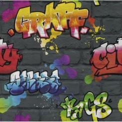 Rasch Kids Club 237801 Graffiti