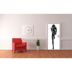 Eurographics Silhouette Nude Woman Door Mural DD-N