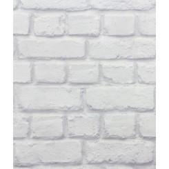 Rasch BeHappy White Brick Wall Effect 226713