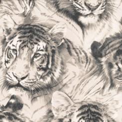 P+S International Tiger Head Wallpaper 45036-30