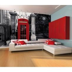 1Wall London Telephone Box Wall Mural
