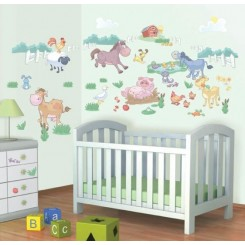 Walltastic Baby Fun On The Farm Decor Kit Stickers