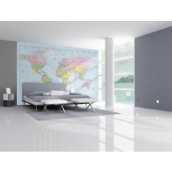 1Wall World Map Wall Mural