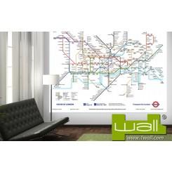 1Wall London Tube Map Mural