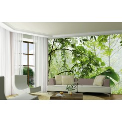 JUNGLE GREEN PLANT WALL MURAL DW-DT5060