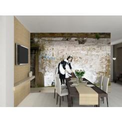 1Wall Banksy Style Maid wallpaper wall mural