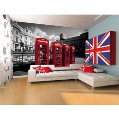 1Wall London Phone Boxes wallpaper wall mural