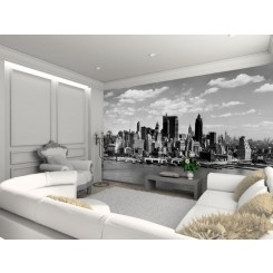 1Wall Manhatten Skyline Wallpaper Mural Newyork-01